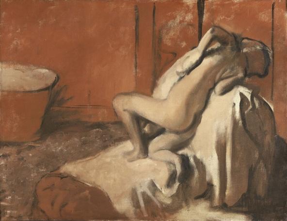 Edgar Degas-Après le bain (Femme s'essuyant)