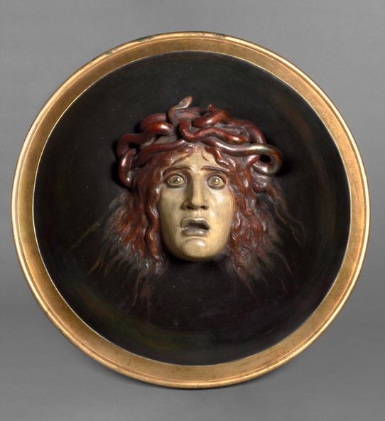 Arnold Böcklin-Bouclier avec le visage de Méduse