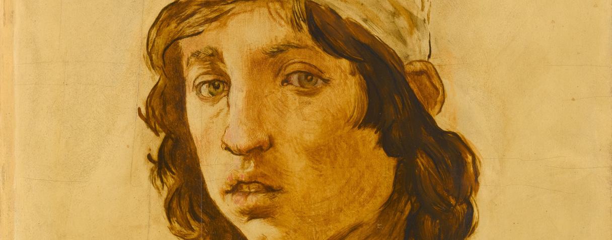 Edouard Manet, Tête de jeune homme d'après l'Autoportrait de Filippino Lippi, 1853  ©Musée d'Orsay, Dist.RMN-Grand Palais / Patrice Schmidt
