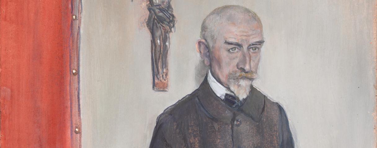 Jean-François Raffaëlli, Portrait de Joris-Karl Huysmans, 1903  ©Musée d'Orsay, Dist. RMN-Grand Palais / Patrice Schmidt