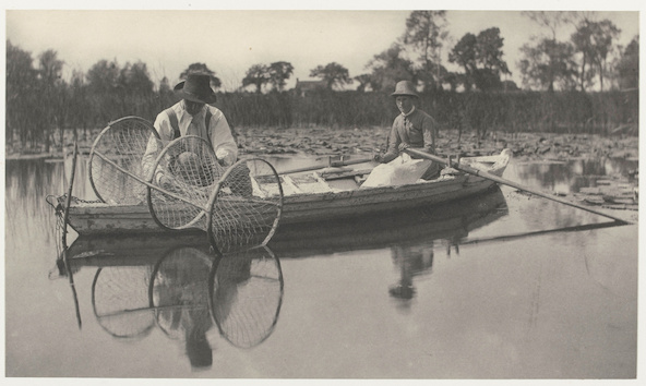 Peter Henry Emerson, Thomas Frederick Goodall-Setting the Bow-Net