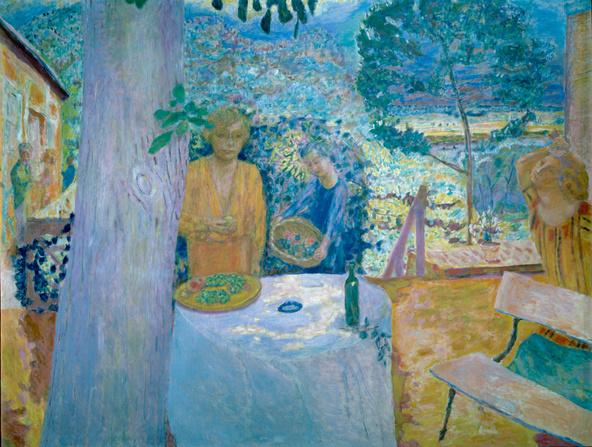 Pierre Bonnard-Décor à Vernon, dit aussi La terrasse à Vernon