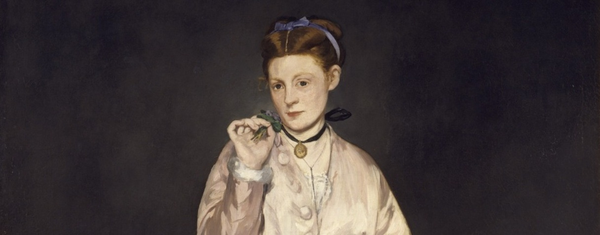 Jeune dame en 1866, dite aussi la femme au perroquet (1866), Edouard Manet
