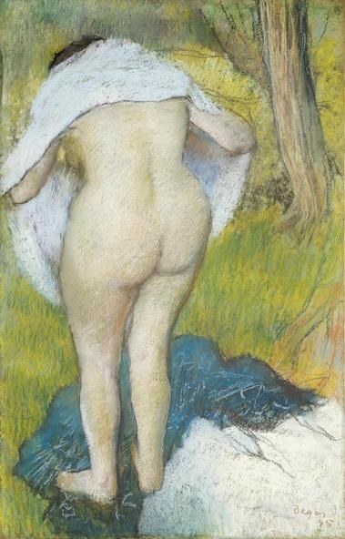 Edgar Degas-Femme s'habillant