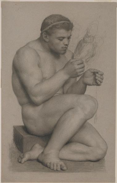 Charles Gleyre-Etude pour Hercule et Omphale, Hercule