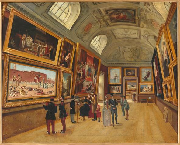 Anonyme-Vue d'une salle du musée du Luxembourg