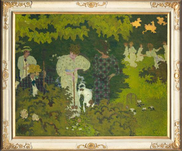 Pierre Bonnard -Crépuscule, dit aussi La partie de croquet
