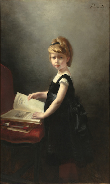 Albert Besnard-Madeleine Gorges, dit aussi Fillette feuilletant un livre
