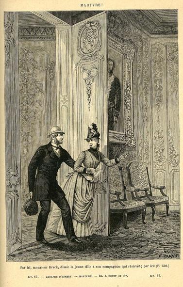 Alphonse d'Ennery-Illustration de Martyre (Original pour La cour du dragon 7)