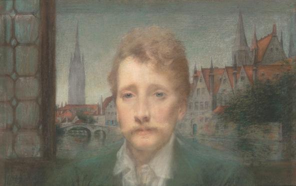 Lucien Levy-Dhurmer-Portrait de Georges Rodenbach