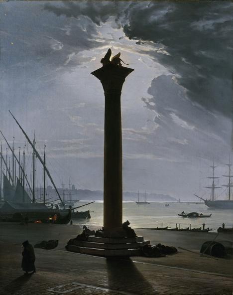 Friedrich Nerly-Venise, la place Saint Marc au clair de lune