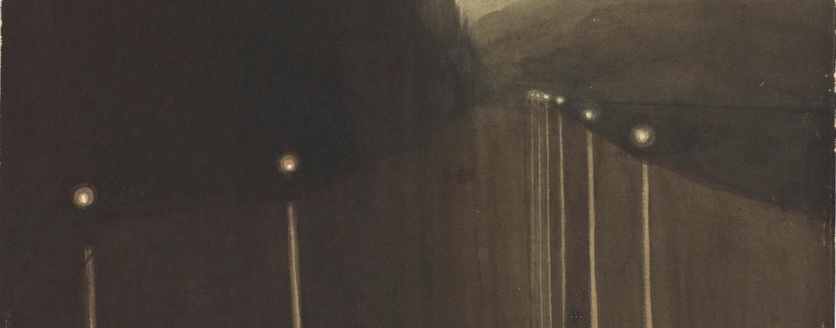 Digue la nuit. Reflets de lumière, Spilliaert Léon (1881-1946) ,