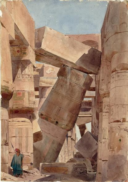 Charles Gleyre-Intérieur du temple d'Amon, Karnak