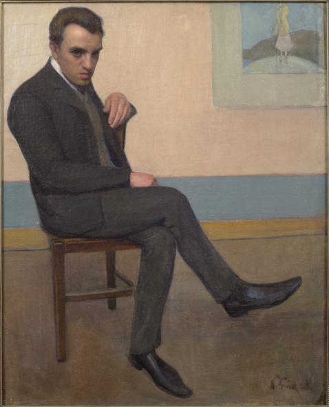 Nikolai Triik-Portrait de Konrad Mägi