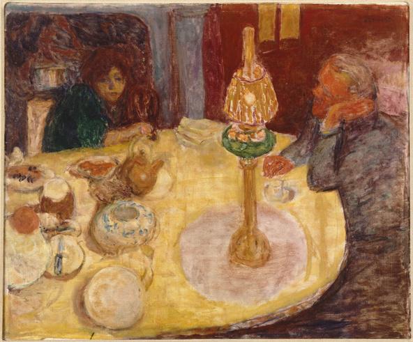 Pierre Bonnard-La soirée sous la lampe