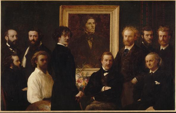 Henri Fantin-Latour-Hommage à Delacroix