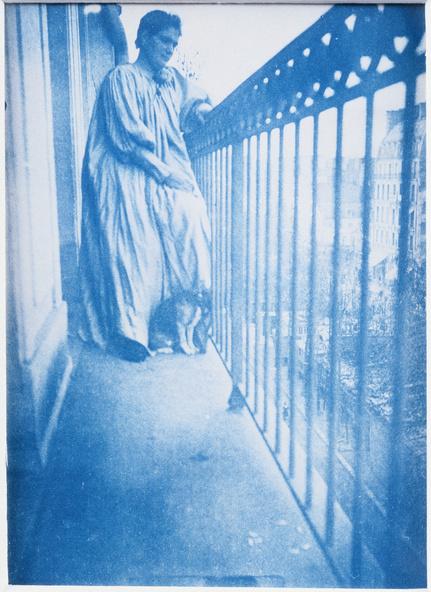 Henri Rivière-Madame Rivière sur le balcon de l'appartement du 29, boulevard de Clichy