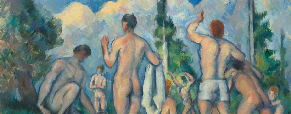 Baigneurs (détail) (Vers 1890), Cézanne, Paul