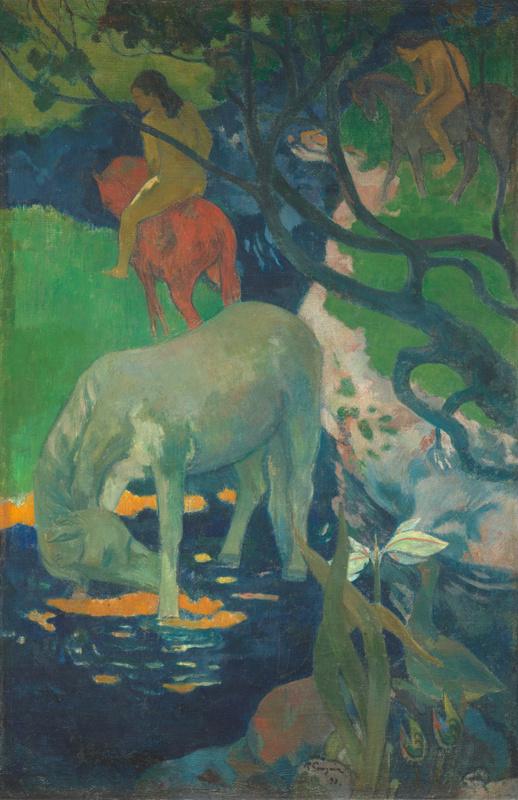 Le cheval blanc (en 1898), Gauguin, Paul