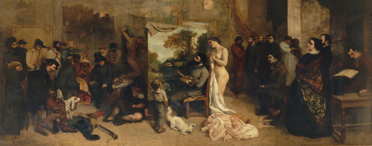L'Atelier du peintre, allégorie réelle déterminant une phase de sept années de ma vie artistique (détail), Courbet, Gustave
