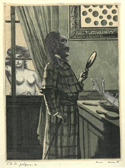 Max Ernst-Collage tiré de Une semaine de bonté. L'île de Pâques 2