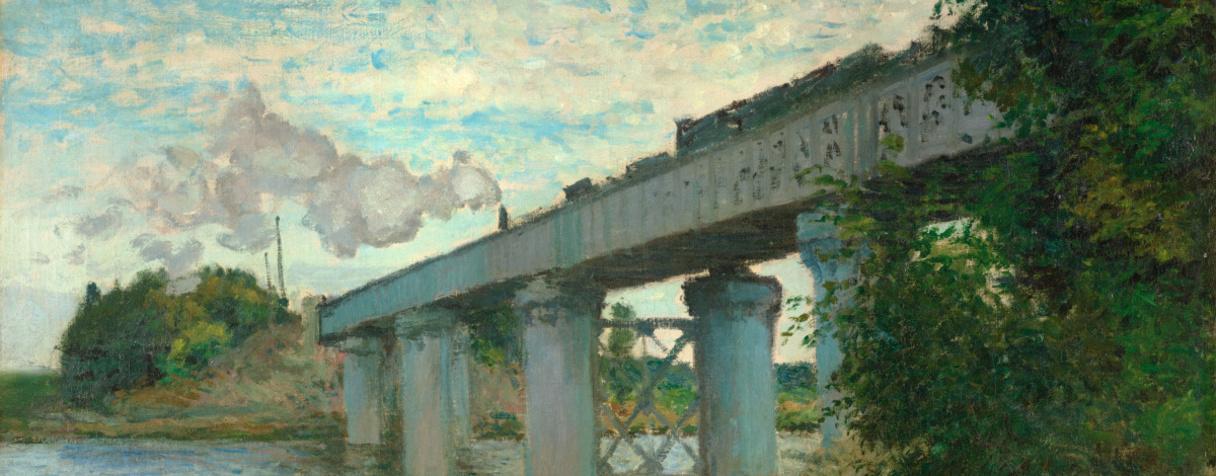 Le pont du chemin de fer à Argenteuil (Val d'Oise)