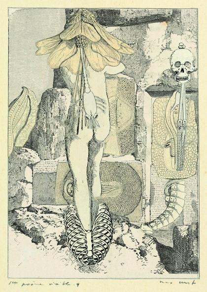 Max Ernst-Collage tiré de Une semaine de bonté. Premier poème visible 4