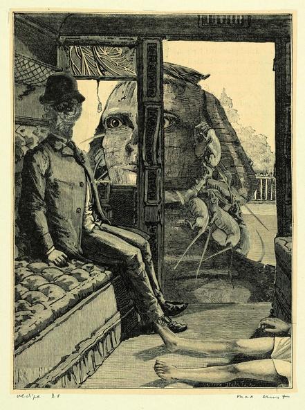 Max Ernst-Collage tiré de Une semaine de bonté. Oedipe 21