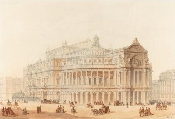 Alphonse Crépinet, Alphonse Botrel-Projet pour le Nouvel Opéra, vue perspective