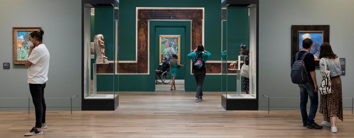 Visiteurs, musée d'Orsay, août 2020