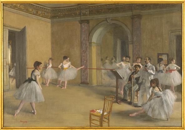 Edgar Degas-Le Foyer de la danse à l'Opéra de la rue Le Peletier