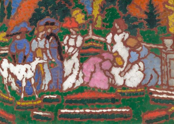 József Rippl-Rónai-Dans le jardin des Somssich