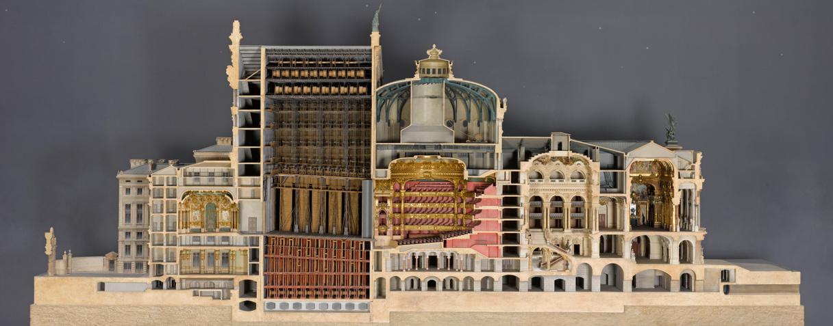 Opéra de Paris, maquette de la coupe longitudinale (entre 1984 et 1986), Garnier, Charles|Gianese, Gianni|Peduzzi, Richard