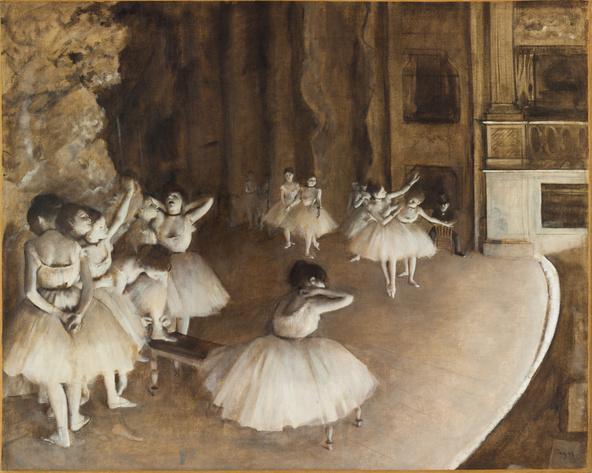 Edgar Degas-Répétition d'un ballet sur la scène
