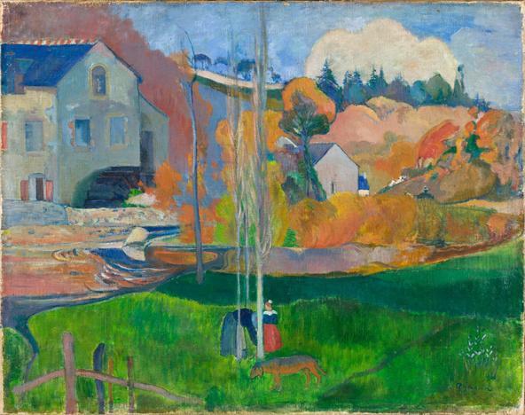 Paul Gauguin-Paysage de Bretagne. Le moulin David