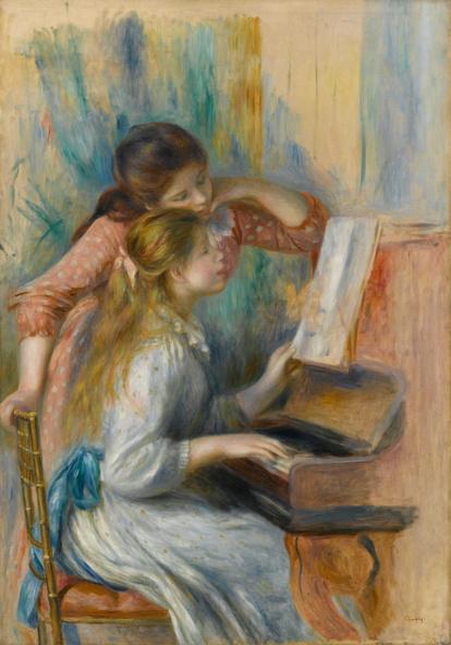 Auguste Renoir-Jeunes filles au piano