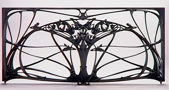 Hector Guimard-Panneau central de grand balcon