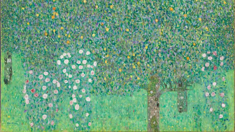 Rosiers sous les arbres (Vers 1905), Klimt, Gustav