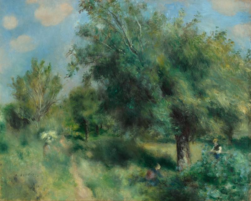 Le Poirier d'Angleterre ou Le Verger à Louveciennes (Vers 1873), Renoir, Auguste