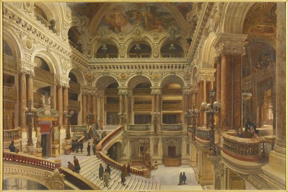 Victor Navlet-L'escalier de l'Opéra