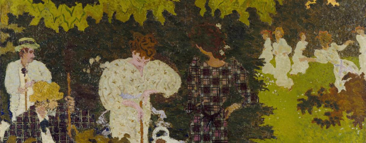 Crépuscule, dit aussi La partie de croquet (en 1892), Bonnard, Pierre