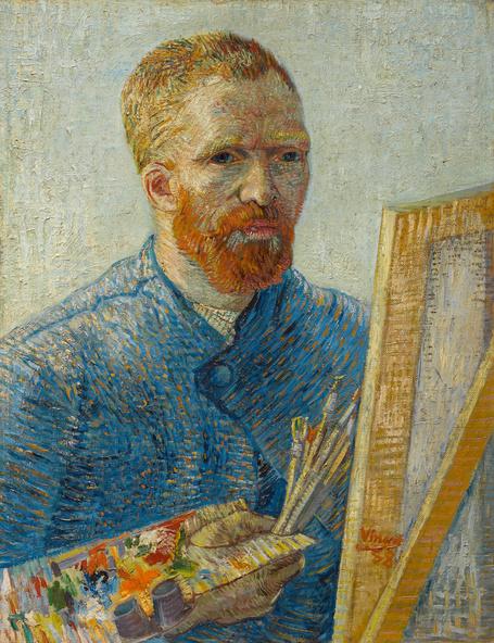 Vincent van Gogh-Portrait de l'artiste au chevalet, Paris
