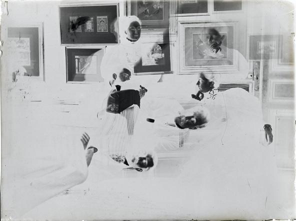 Edgar Degas-Mathilde et Jeanne Niaudet, Daniel Halévy, Henriette Taschereau, Ludovic Halévy, Elie Halévy
