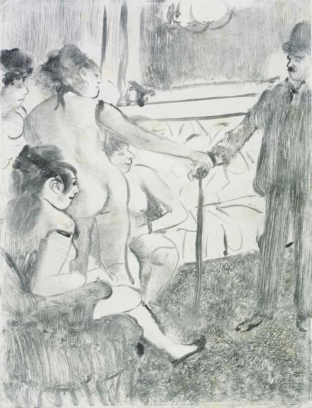 Edgar Degas-Le Client sérieux