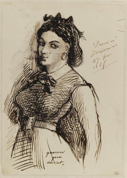 Portrait de Jeanne Duval (1865), Charles Baudelaire