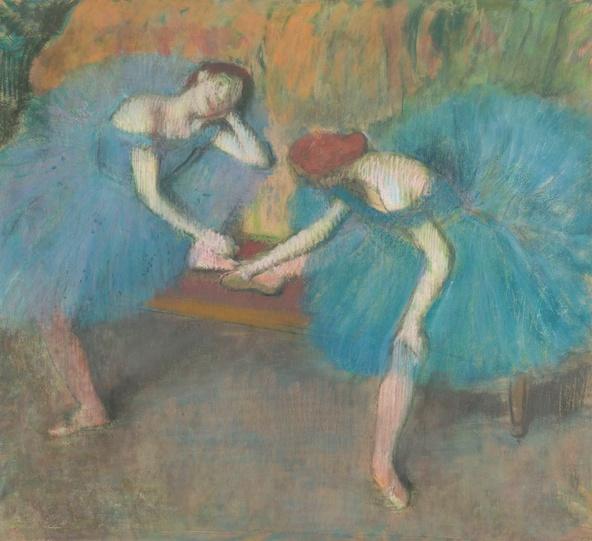 Edgar Degas-Deux danseuses au repos