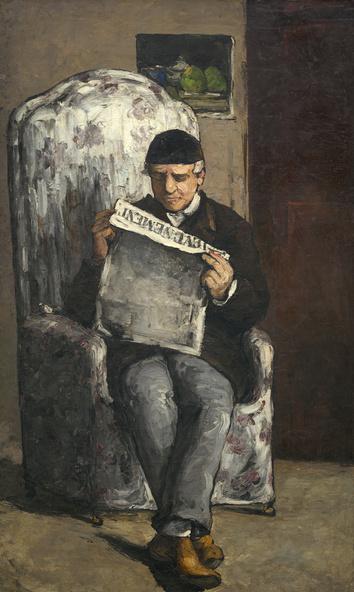 Paul Cézanne-Louis-Auguste Cézanne, père de l'artiste, lisant L'Evénement