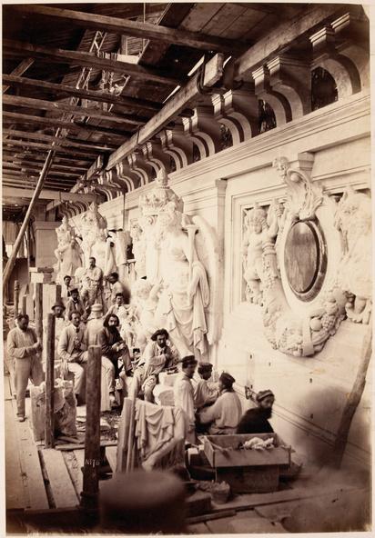 Delmaet & Durandelle-Construction du Nouvel Opéra de Paris, groupe de sculpteurs