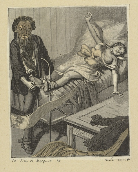 Max Ernst-Collage tiré de Une semaine de bonté. Le lion de Belfort 28