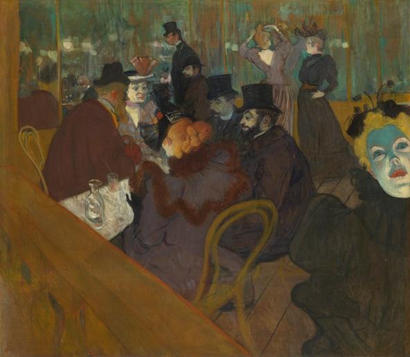 Henri de Toulouse-Lautrec-Au Moulin Rouge